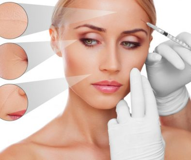 concept skincare. Skin of beauty young woman before and after the procedure